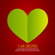 Love Christmas Paper Heart
