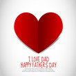 Father's Day Paper Heart