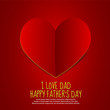 Love Dad Paper Heart