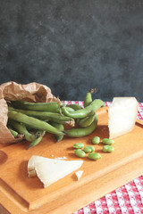 Fava beans and cheese