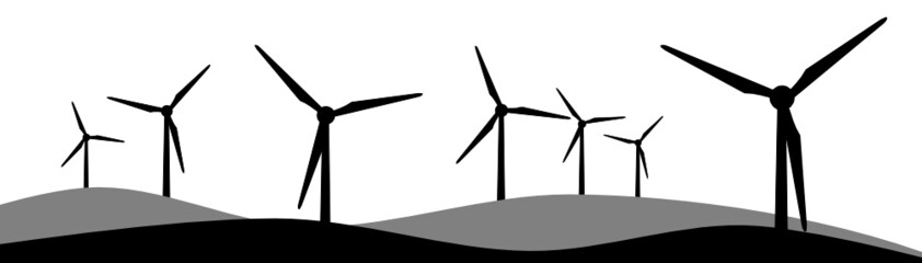 Silhouette Windpark