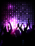 Fototapety Vector background - cheering crowd at a concert