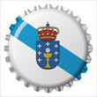 Chapa botella bandera Galicia