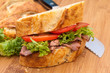 Fresh roast beef and crusty bread sandwich.