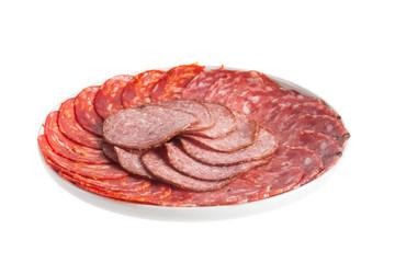 Chorizo, salchichon, salami pork sausage