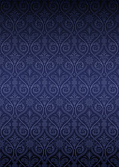 Seamless Gothic Damask Pattern