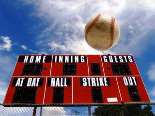 Baseball Homerun with Scoreboard
