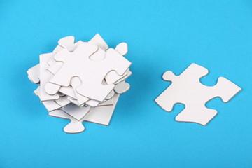 Blank White Jigsaw Pieces