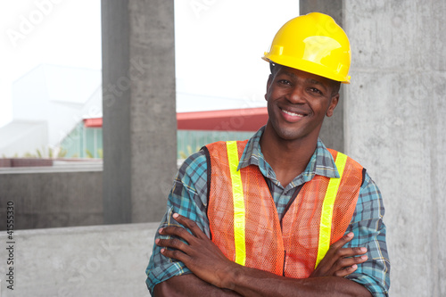 African American construction worker - 41555330