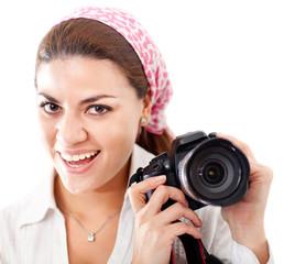 Female paparazzi