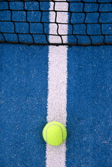 tennis or padel ball on the line