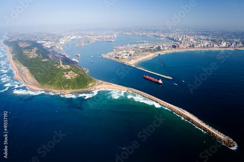 overall aerial view of Durban, south africa