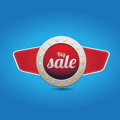 Big sale red button with wings