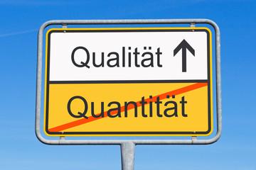 Quantität und Qualität