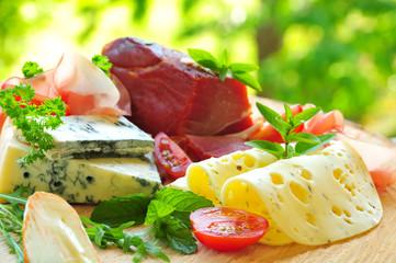 Schinken-Käse-Platte