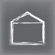 Skizze Haus Outline