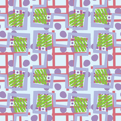 Abstract Green and Blue Pattern