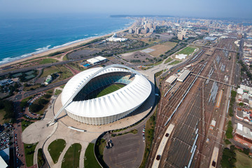 aerial view of durban city, south africa