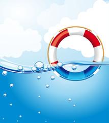 float over water