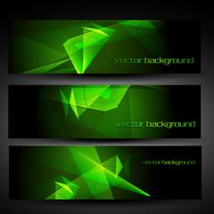 vector green abstract banner
