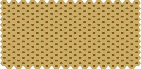 Brown Hexagon Abstract background