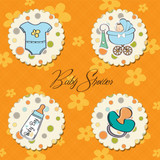 new baby boy items set poster