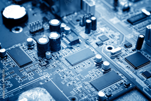 Leinwanddruck Bild microchip