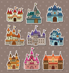 cartoon Fairy tale castle stickers