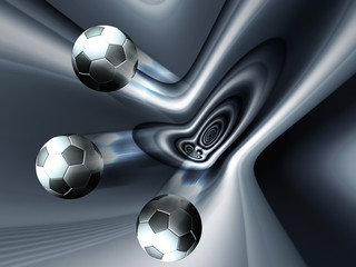 Football concept with silver background