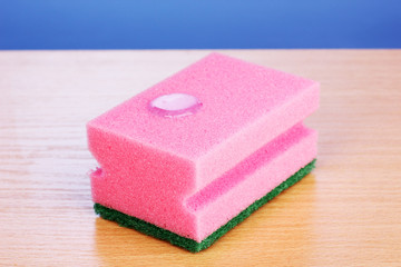 Sponge with dishwashing liquid