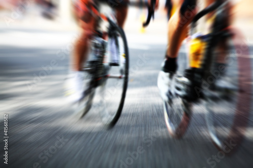 cyclist action blur