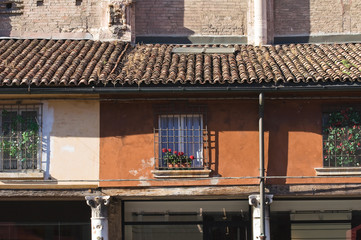 Loggia of the Merchants. Ferrara. Emilia-Romagna. Italy.