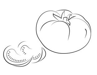 Big tomato with lobules.