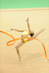 rhythmic gymnastics with ribbon