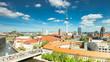 Berlin Skyline City Timelapse with cloud Dynamic in HD 1080p