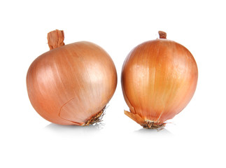 Onions, isolated on white
