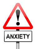 Anxiety warning. poster