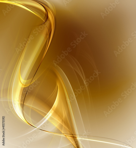 Beautiful gold fractal background