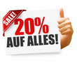 20% auf alles! Button, Icon