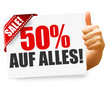 50% auf alles! Button, Icon