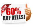 60% auf alles! Button, Icon