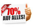 70% auf alles! Button, Icon