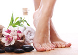 Fototapety Beautiful legs and different spa items