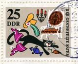 Canceled german stamp