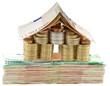 concept immobilier sur liasse de billets