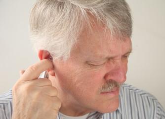 ear pain in a senior man