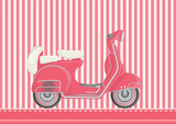 Fototapety Cute Motorcycle