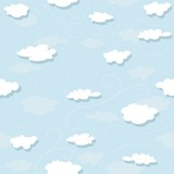 Clouds Pattern - Repetitive Illustration poster