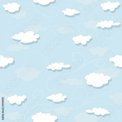 Clouds Pattern - Repetitive Illustration
