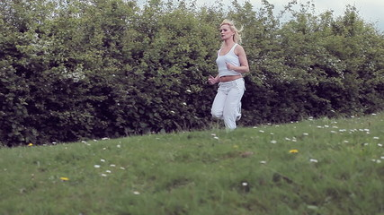 Woman jogging for fitness